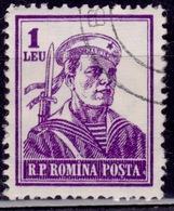 Romania, 1955, Sailor, 1L, Sc#1030, Used - 1948-.... Repúblicas