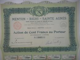 MENTON RIGHI SAINTE AGNES  Alpes Maritimes   UNIQUE - Tourisme
