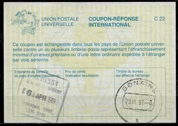 CANADA La26 International Reply Coupon Reponse Antwortschein IAS IRC O OSHAWA ONT 6.4.93 Redeemed BONAIRE Dutch Antilles - Antwortcoupons
