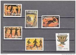 Guyana Nº Michel 3064B Al 3069B SIN DENTAR - Ete 1992: Barcelone