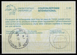 CANADA La26 International Reply Coupon Reponse Antwortschein IAS IRC O MONTREAL 8.4.93 Redeemed BONAIRE Dutch Antilles - Antwortcoupons
