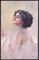 ILLUSTRATEUR GUERINONI - CPA ITALIA - Dame Au Dos Dénudé  - Regard Sensuel - Sensual Lady With Naked Back - Guerinoni