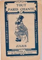 Tout Paris Chante  Julius Jaquinot Coutufon à FoncoutuCompte La D'ssus Tout Le Monde Baisse  Jelly's Nuits De Paris - Musique & Instruments