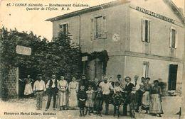 Cpa CENON 33 Restaurant GUICHON - Quartier De L' Eglise - Au Repos Des Promeneurs - France