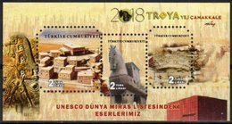 TURKEY, 2018, MNH, UNESCO HERITAGE SITES, TROY, TROJAN HORSE, S/SHEET - Cultures