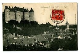 CPA 37 Indre Et Loire Luynes Le Château Et L'Eglise - Luynes