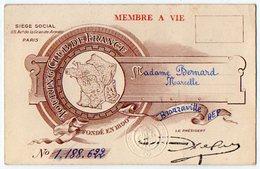 VP13.055 - PARIS 1973 - Carte Du Tourning Club De France - Mme Marcelle BERNARD à REIMS - Cartes