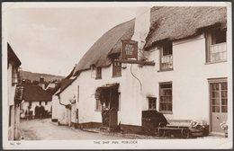 The Ship Inn, Porlock, Somerset, 1953 - Mansfield's RP Postcard - England