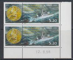 TAAF 1998 Ship / F.S. Floreal 1v Pair (corner, Printing Date) ** Mnh (40893G) - Franse Zuidelijke En Antarctische Gebieden (TAAF)