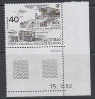 TAAF 1989 Etablissements Permanents 1v (corner, Printing Date) ** Mnh (40893H) - Franse Zuidelijke En Antarctische Gebieden (TAAF)