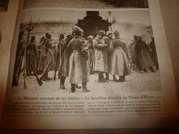 1918 LE MIROIR:Bataillon Féminin De La Mort;Crise Charbon USA;Explos. Navires IMO & MT-BLANC;Tziganes De Zeitenlick;etc - Magazines & Papers