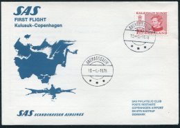 1978 Greenland Denmark SAS First Flight Cover. Slania - Greenland