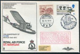 1970 Greenland GB Royal Air Force VJ Day BFPS Flight Cover. Slania - Greenland