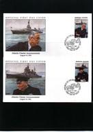 Marshall Island  1991 WW II Atlantic Charter Announcement FDC - WW2