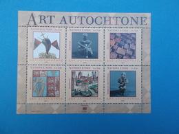 BLOC DE 6 TIMBRES : ART AUTOCHTONE - Neufs