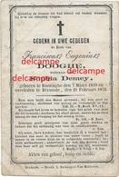 Doodsprentje Frans Dooghe Boezinge 1810 En Overleden Te Diksmuide 1876 Sophia Demey Doodsprentje - Santini