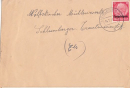 Lettre De Merlebach (T 325 Merlebach A) TP Lothr 12pf=1°éch Le 14/1/41 Pour Wolfskirchen - Postmark Collection (Covers)