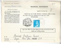 DOCUMENTO INTERNO CORREOS FRANQUEO INSUFICIENTE MAT AP PASAJES SAN PEDRO GUIPUZCOA - 1931-Hoy: 2ª República - ... Juan Carlos I