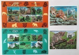 Zambia 1997**Mi.Klb.674/85 + Bl.21,22 Full Sett (Endangered Species) [21;146] - Timbres