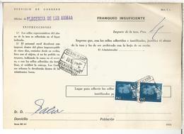 DOCUMENTO INTERNO CORREOS FRANQUEO INSUFICIENTE MAT PLACENCIA DE LAS ARMAS GUIPUZCOA - 1931-Hoy: 2ª República - ... Juan Carlos I