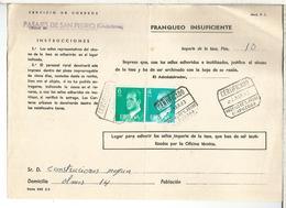 DOCUMENTO INTERNO CORREOS FRANQUEO INSUFICIENTE MAT PASAJES SAN PEDRO GUIPUZCOA - 1931-Hoy: 2ª República - ... Juan Carlos I
