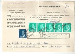 DOCUMENTO INTERNO CORREOS FRANQUEO INSUFICIENTE MAT RENTERIA GUIPUZCOA - 1931-Hoy: 2ª República - ... Juan Carlos I