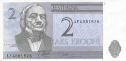 2006 Estonia 2 Kroon Banknote.Crisp UNC.Tartu Universit - Estonia