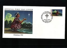 Marshall Island  1992 Christmas  FDC - Marshall Islands