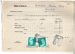 DOCUMENTO INTERNO CORREOS FRANQUEO INSUFICIENTE MAT TOLOSA GUIPUZCOA - 1931-Hoy: 2ª República - ... Juan Carlos I