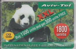 ISRAEL 012 SMILE BEAR PANDA AVIV TEL XXL 1800 UNITS USED PHONE CARD - Israel