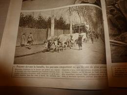 1918 LE MIROIR:Les Paysans Fuient La Bataille Avec Les Chars à Bœufs;Les Femmes Peignent Les Tanks;Fusils Lewis;Alep;etc - Magazines & Papers