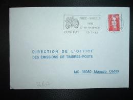 LETTRE TP M.DE BRIAT TVP ROUGE OBL.MEC.13-7 1995 63 CUNLHAT PUY DE DOME FREE WHEELS 1995 17-18-19-20 Août + MOTO - Moto