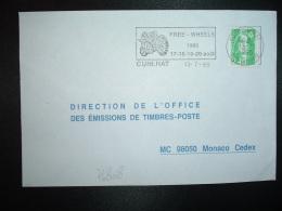 LETTRE TP M.DE BRIAT 2,40 OBL.MEC.13-7 1995 63 CUNLHAT PUY DE DOME FREE WHEELS 1995 17-18-19-20 Août + MOTO - Moto