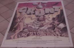 AFFICHE CINEMA ORIGINALE FILM GRUNT Andy LUOTTO TB ILLUSTRATION DESSIN Vanni Tealdi - PREHISTOIRE EROTISME 1983 - Posters