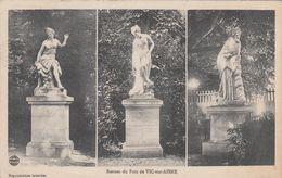Cp , 02 , VIC-sur-AISNE , Statues Du Parc , Multi-vues - Vic Sur Aisne