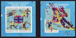 Niger, Winter Olympic Sochi 2014, Sheetlet + Block Imperforated - Winter 2014: Sochi