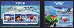 Guinea, Olympic Winter Sochi 2014, Sheetlet + Block Imperforated - Winter 2014: Sochi