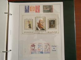 Collection / Général Charles De Gaulle ; Divers Timbre Oblitérés, Enveloppes , Feuille ** , Et Timbres Neuf ** MNH TB - De Gaulle (General)