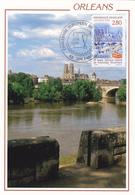 Carte-Maximum FRANCE N° Yvert 2953 (ORLEANS) Obl Sp Ill 1er Jour Challenge Européen (Ed Ligneau 14.20) - 1990-99