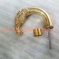 POIGNEE DE CANNE TETE D ELEPHANT LAITON SOLIDE - Coppers