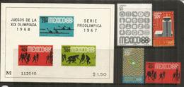 MEXIQUE. Jeux Olympiques De Mexico. Bloc-feuillet + 4 Timbres Neufs ** - Ete 1968: Mexico