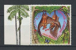 CALEDONIE 2002 N° 864 ** Neuf MNH Superbe Saint-Valentin Animaux Animals Chauve-souris Coeur - Nueva Caledonia