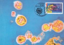 Carte-Maximum FRANCE N° Yvert 2878 (SIDA) Obl Sp Ill 1er Jour (Ed Castelet) - 1990-99