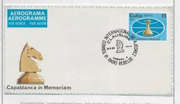 Cuba 1982; Chess Ajedrez Aerograma ERROR AEREC - Neufs