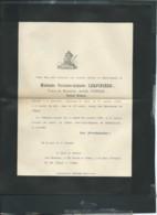 Dercé (86 )  F.P. Décès De Mme Victoire Athalie Lerpinière Vve De M Achille Poirier Le 17/10/1896 - Ax 14304 - Décès
