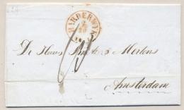 Nederland - 1851 - HARDERWIJK Op Complete Vouwbrief Naar Amsterdam - Nederland
