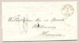 Nederland - 1856 - HATTEM Op Complete Vouwbrief Via Nijmegen Naar Bierbrouwerij Heumen - Nederland