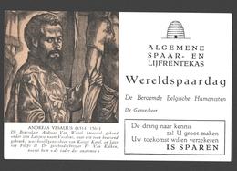 Vloeipapier / Buvard - Algemene Spaar- En Lijfrentekas (ASLK) Wereldspaardag - Andreas Vesalius, Geneesheer - Banque & Assurance