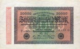 Germany 20.000 Mark, DEU-95e/Ro.84a (1923) - Very Fine - 20000 Mark