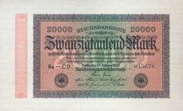 Germany 20.000 Mark, DEU-95b/Ro.84i (1923) - UNC - 20000 Mark